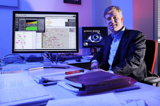 Wil van der Aalst in his office