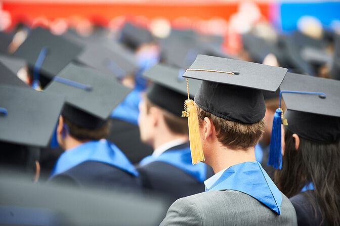 Graduates during the graduation ceremony