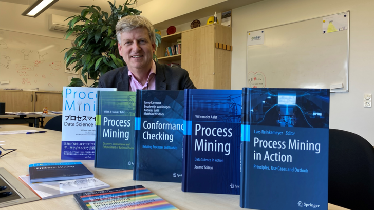 Wil van der Aalst with his books